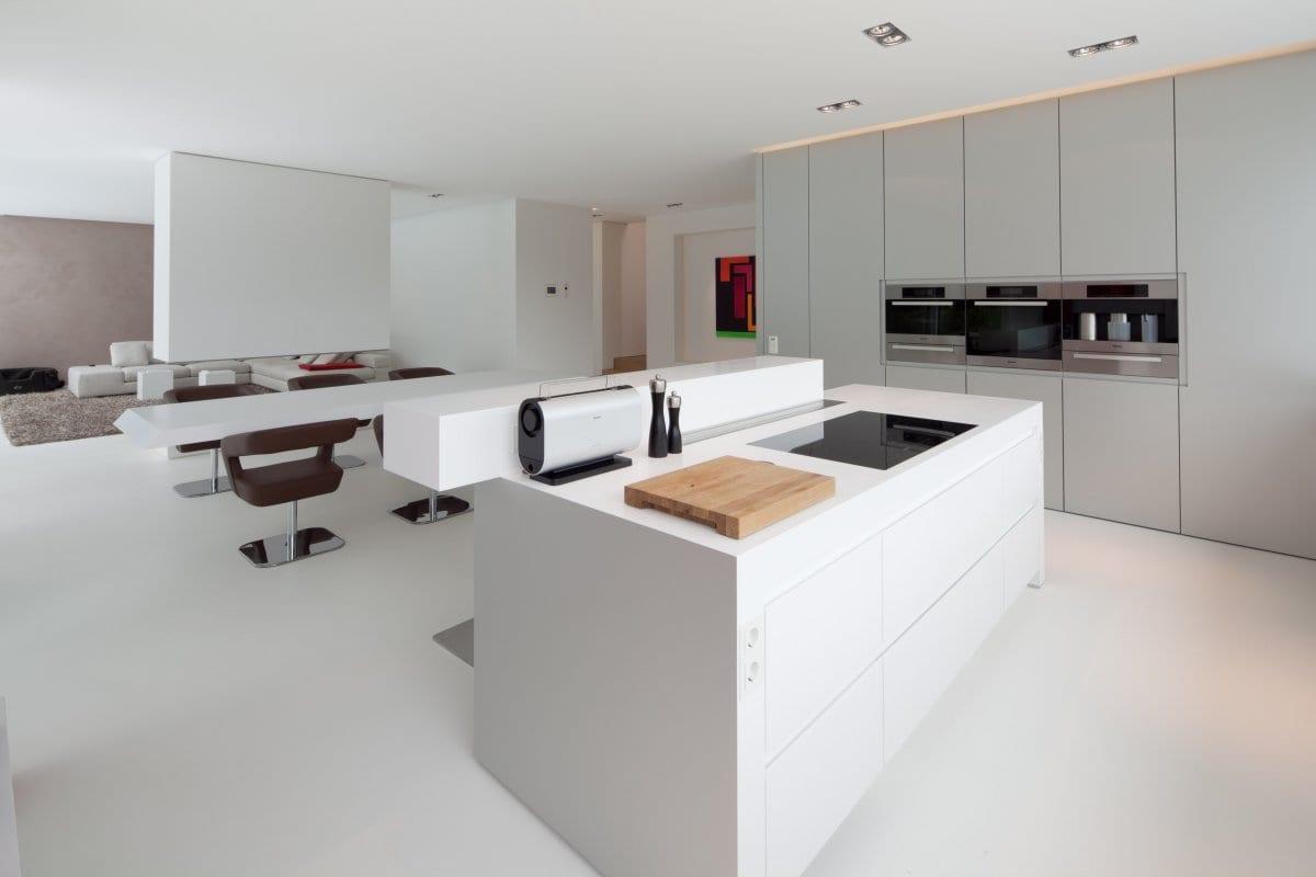 Moderne keuken gietvloer