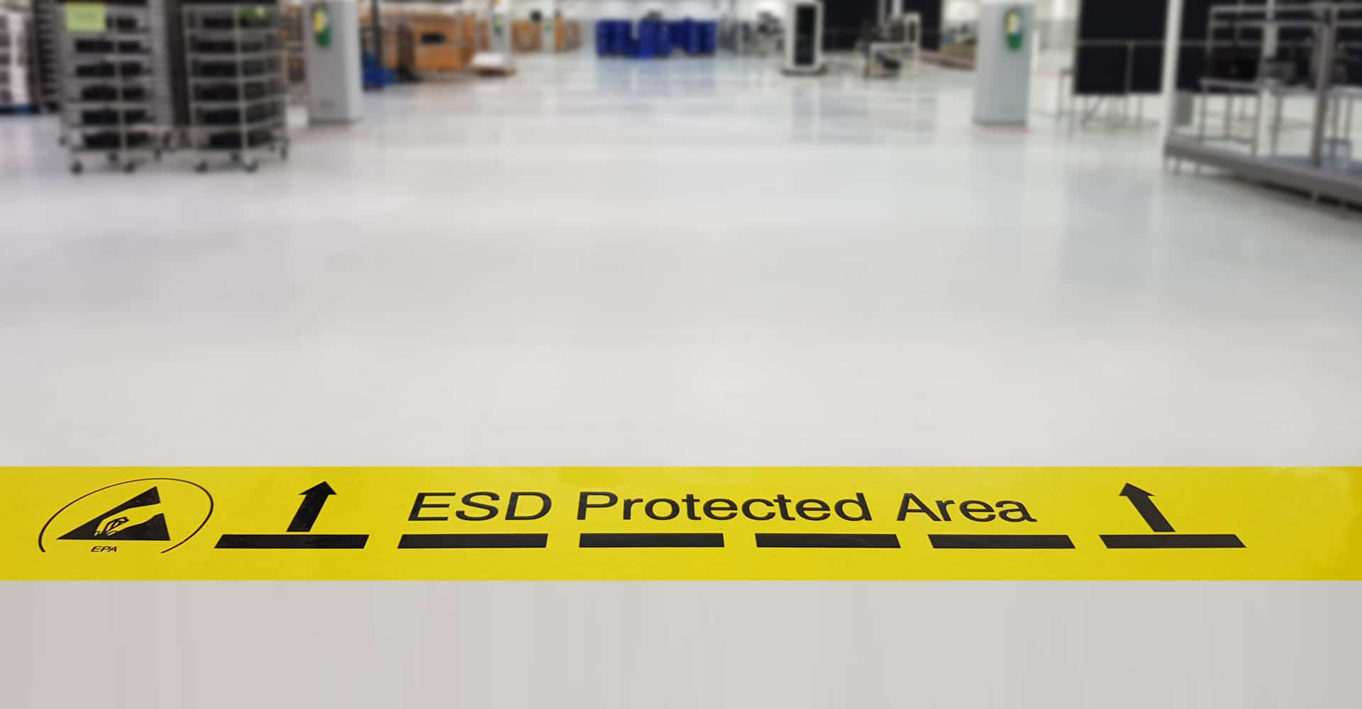 ESD vloer in technische ruimte