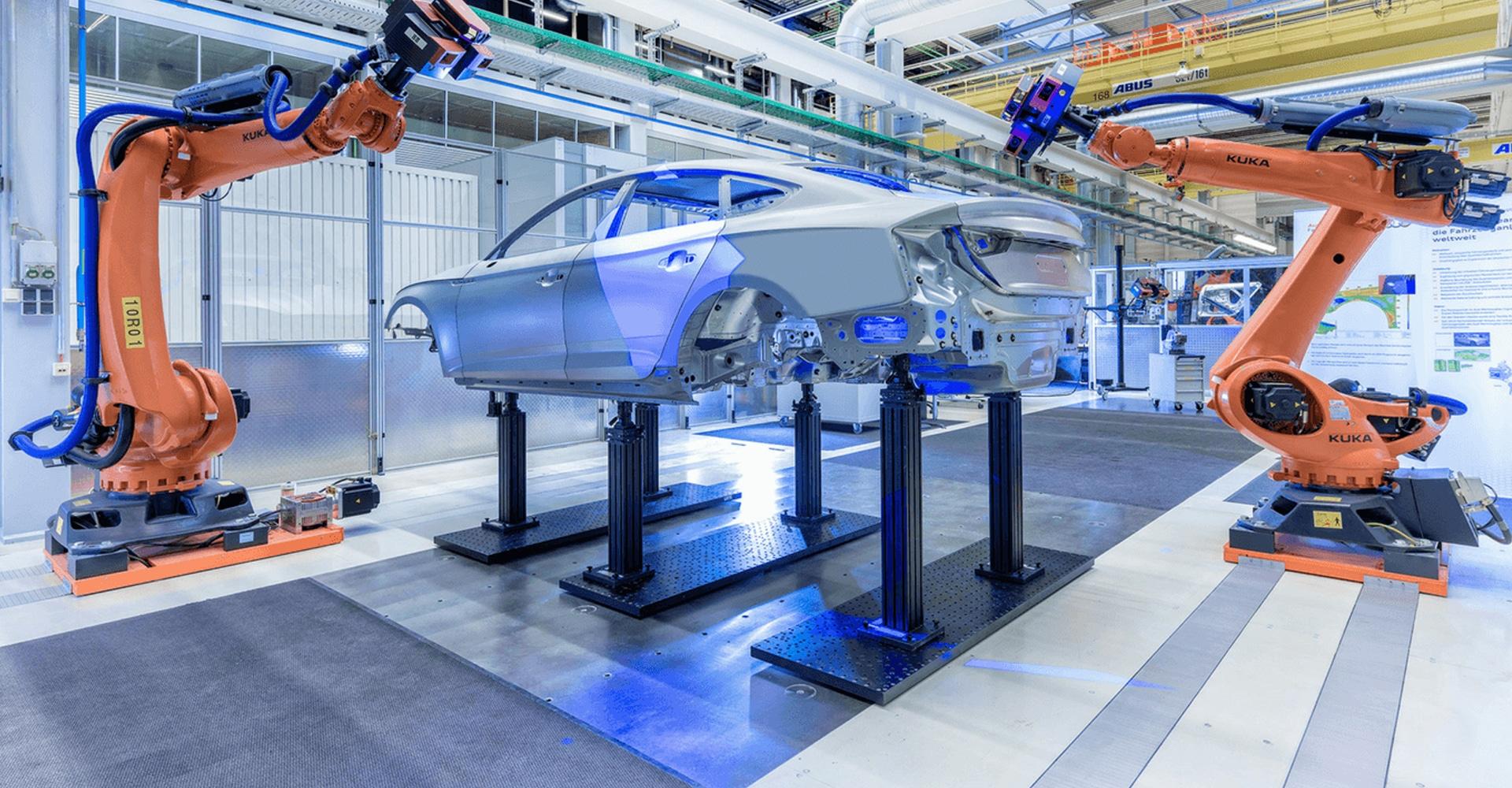 ESD vloer in auto fabriek