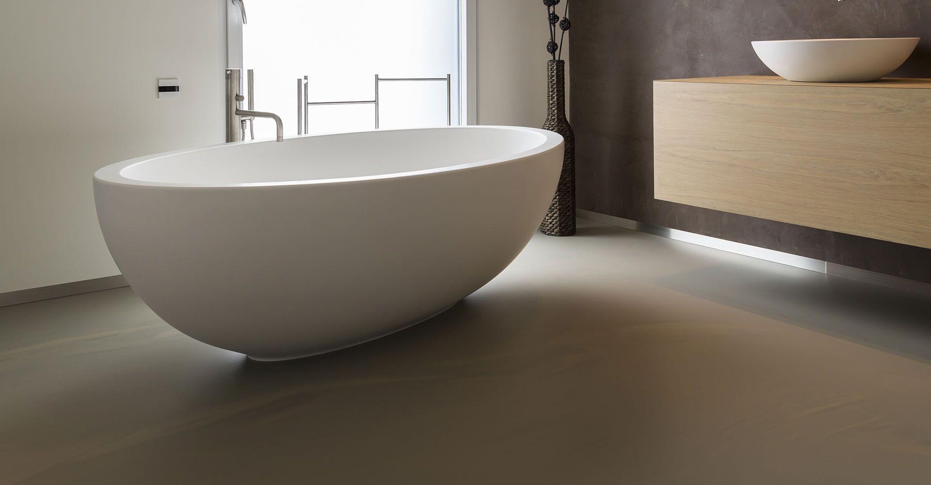 Gietvloer betonlook badkamer