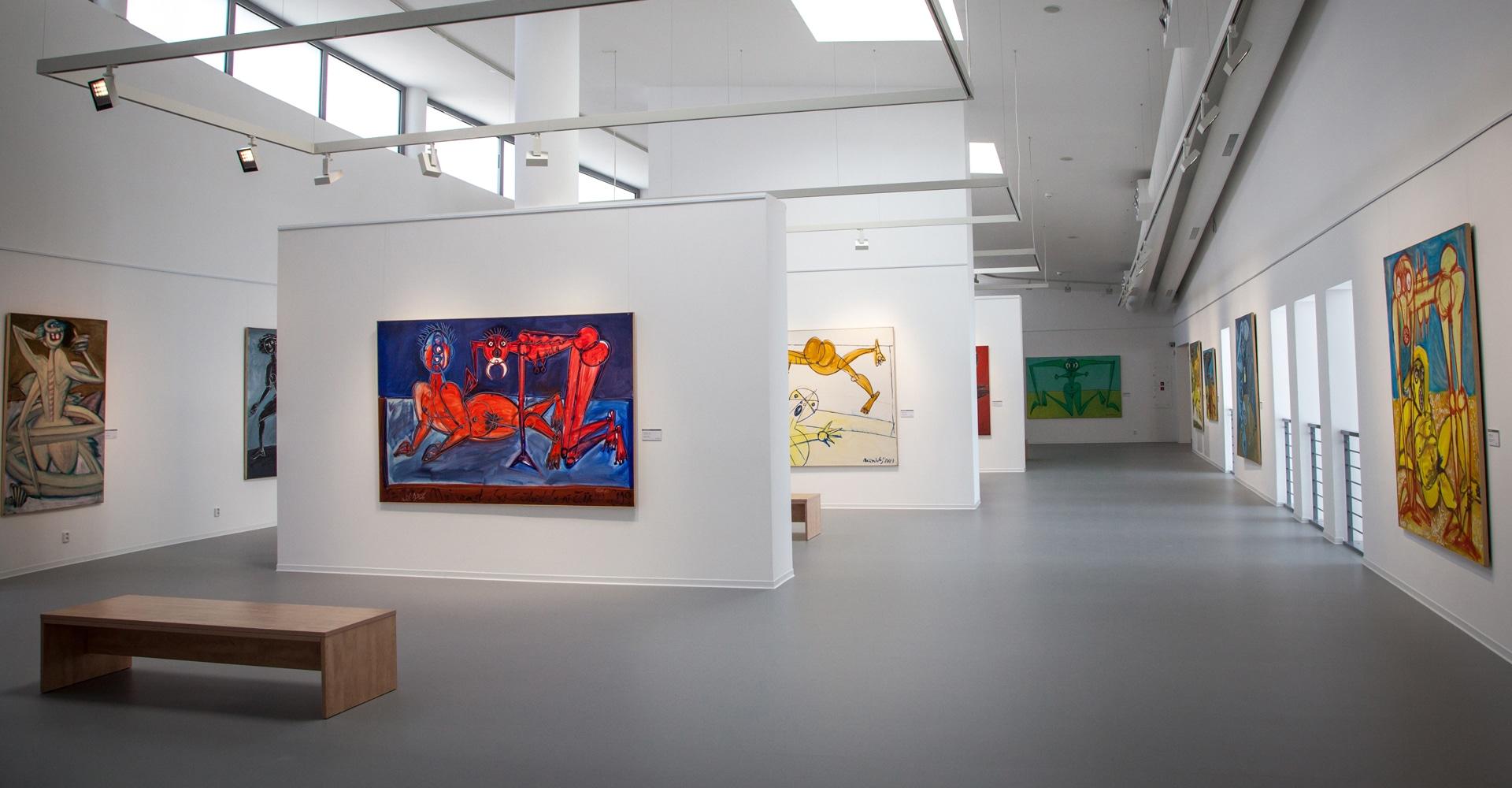 Museumvloer voor schilderkunst