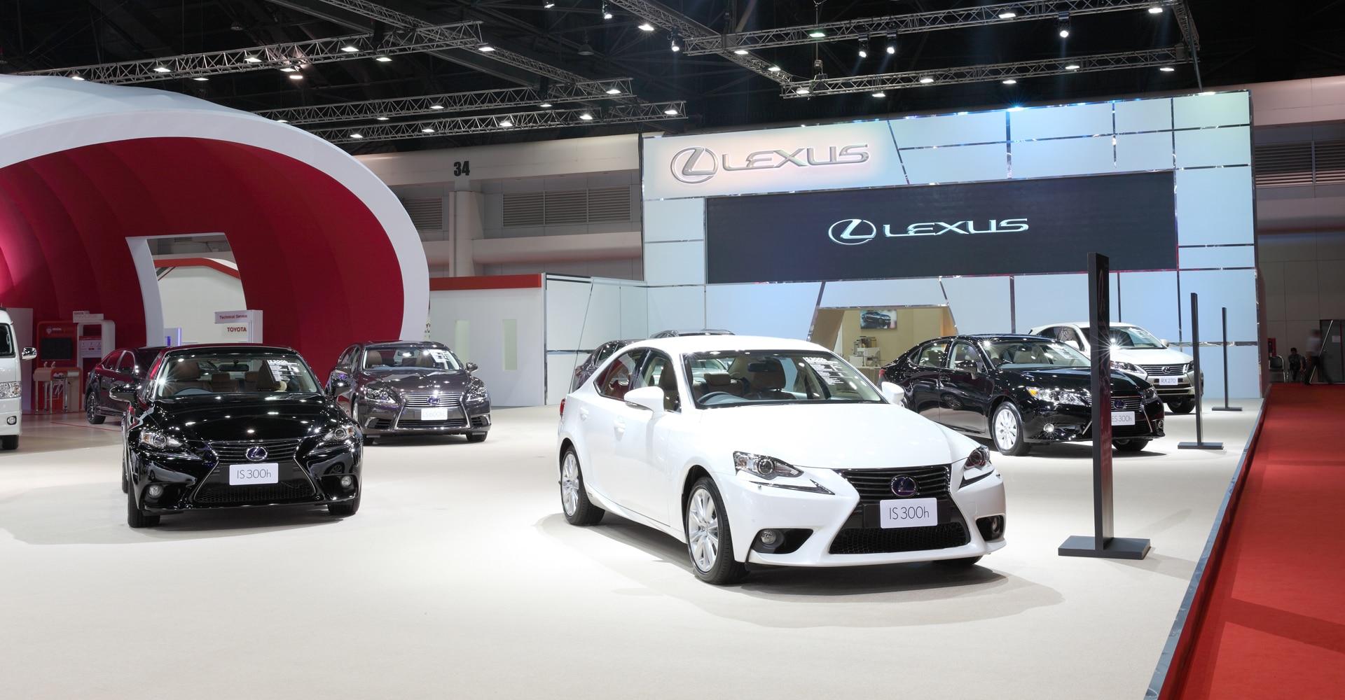 Showroomvloer Lexus auto's