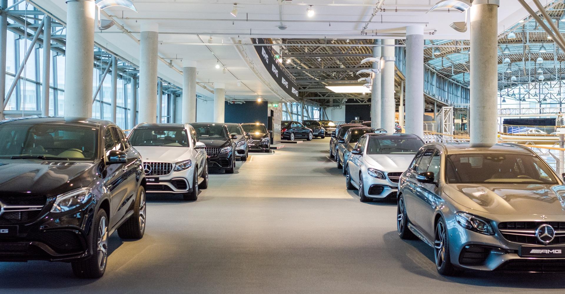 Showroomvloer Mercedes Benz