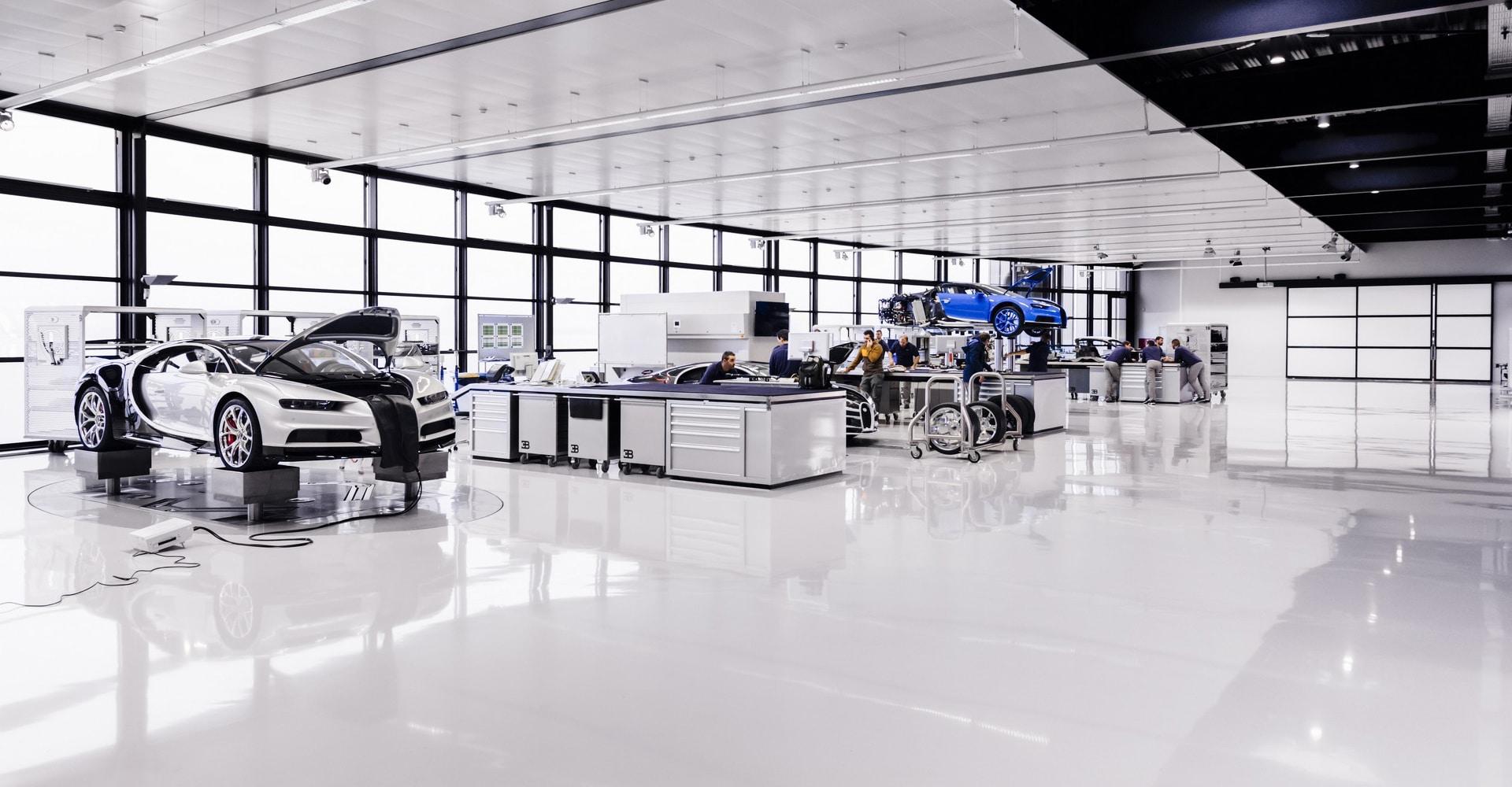 Vloercoating in werkplaats