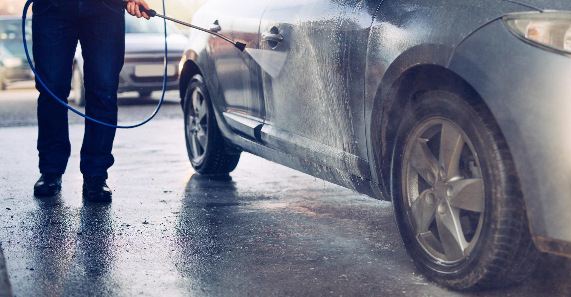 Wasstraat vloer voor auto's