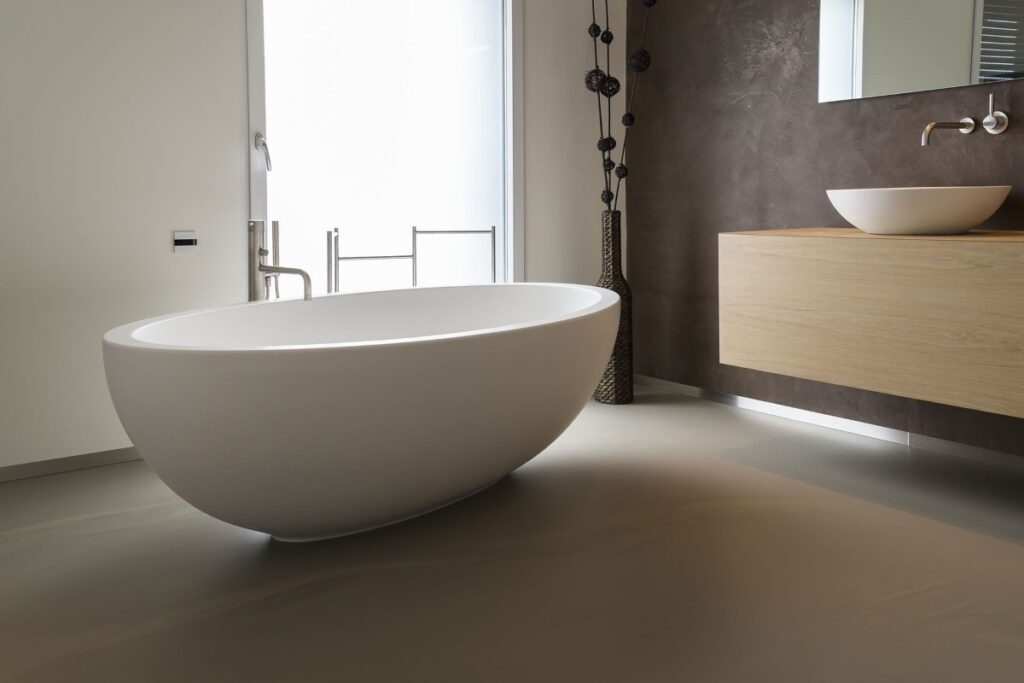 Badkamer gietvloeren