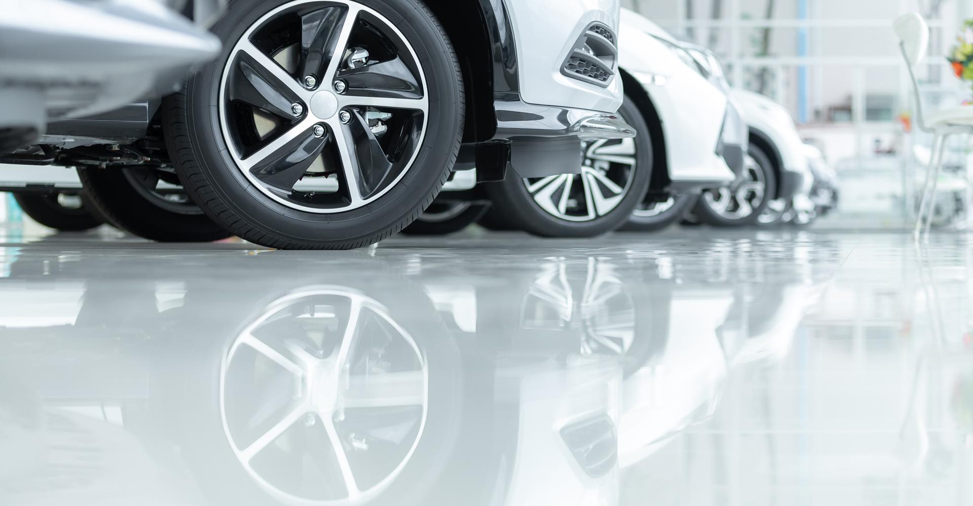 Betonvloer coating voor auto's