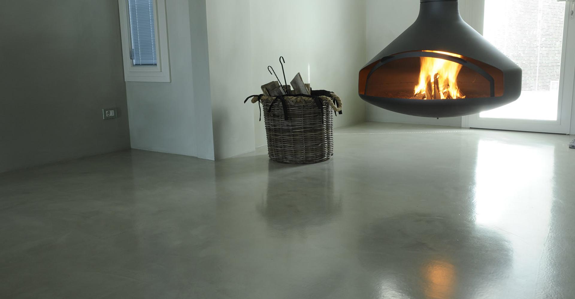 Design betonvloer woonkamer