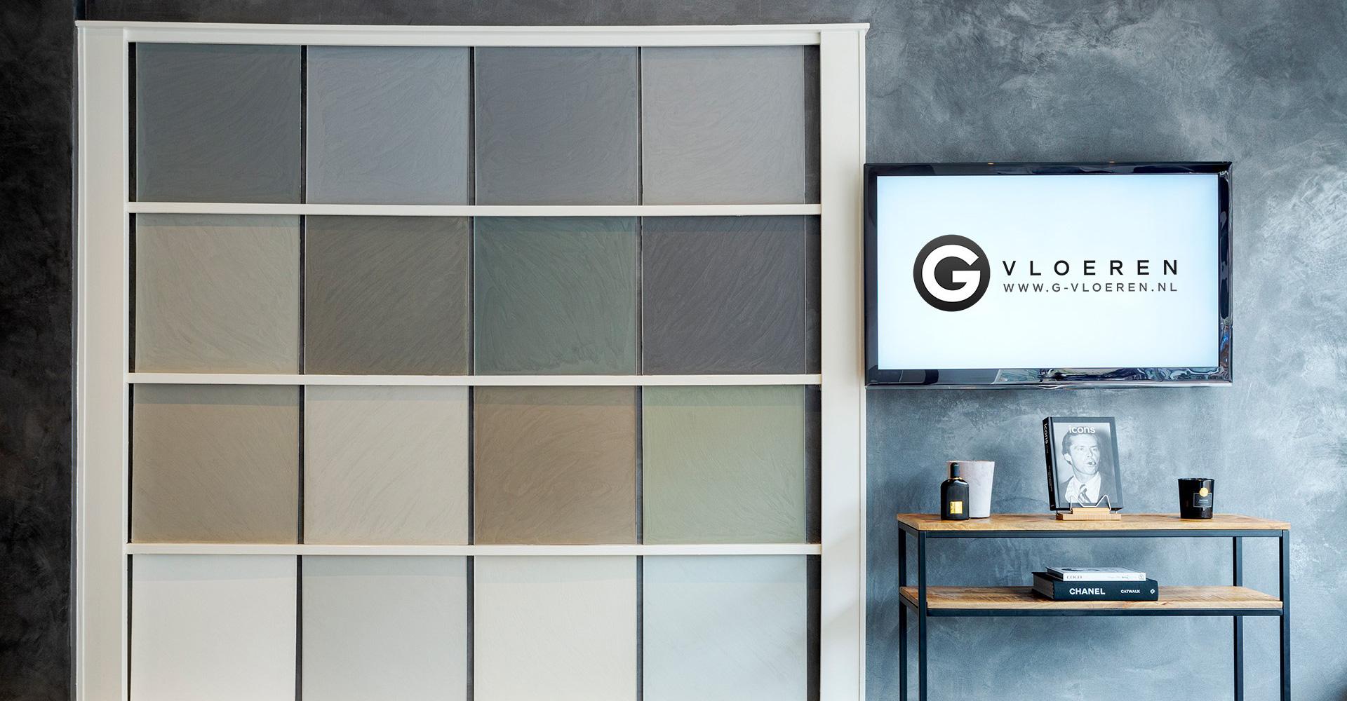 G-vloeren showroom kleuren