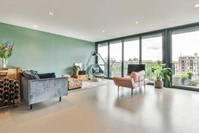 Gietvloer voor een woning in Haarlem