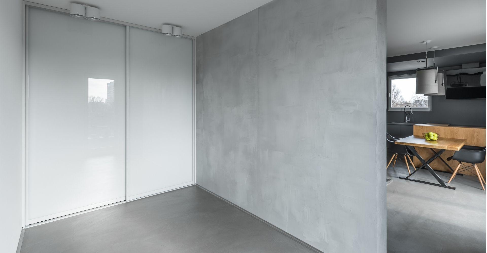 Betonstuc grijs in een woning