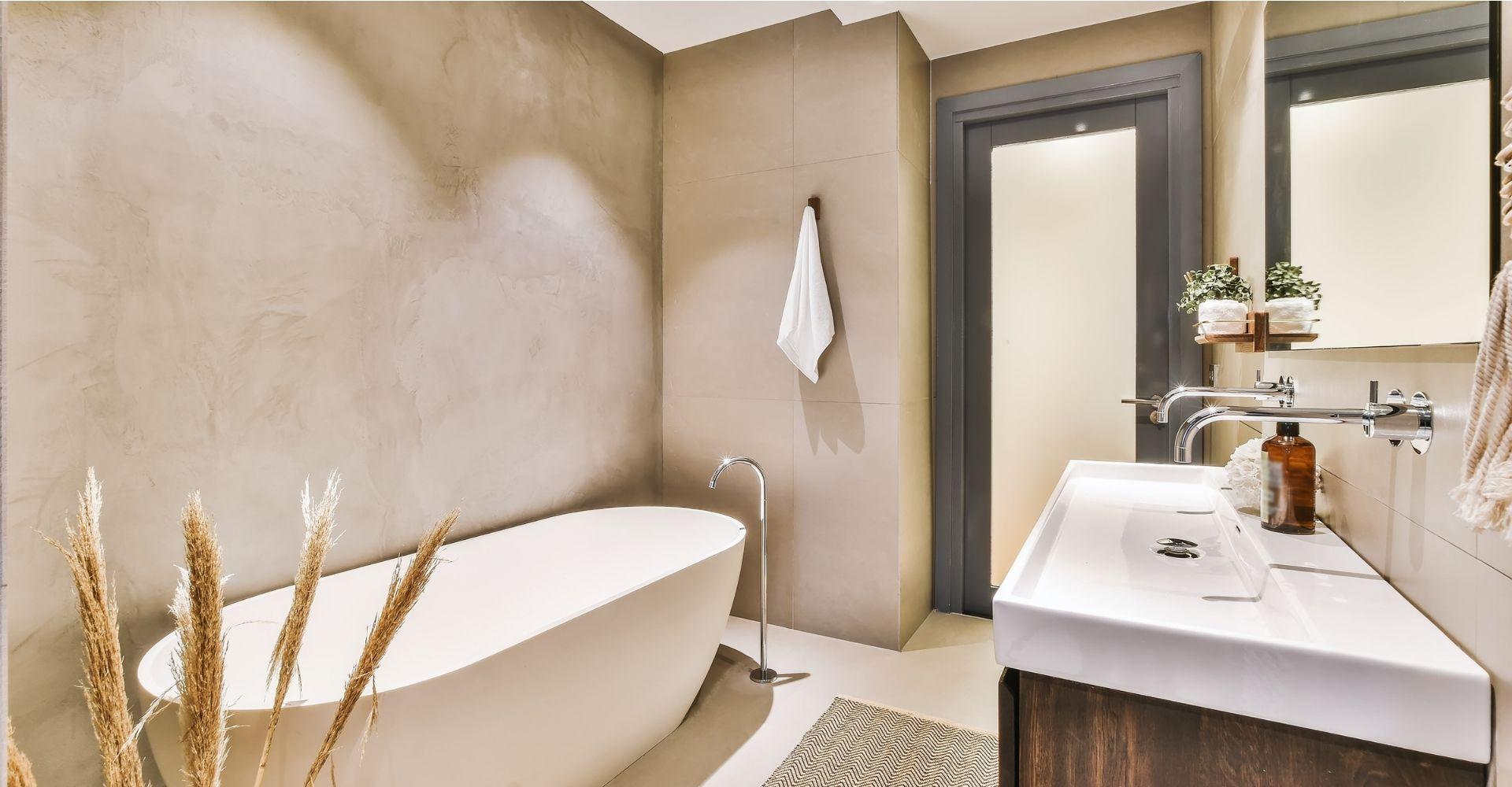 Betonlook in de badkamer